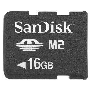 Sandisk 16GB M2 Memory Stick Micro (SDMSM2-016G-K, Bulk Package)
