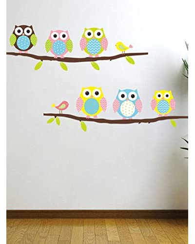 Ambience Live Vinilo Decorativo Owls And Birds On Tree