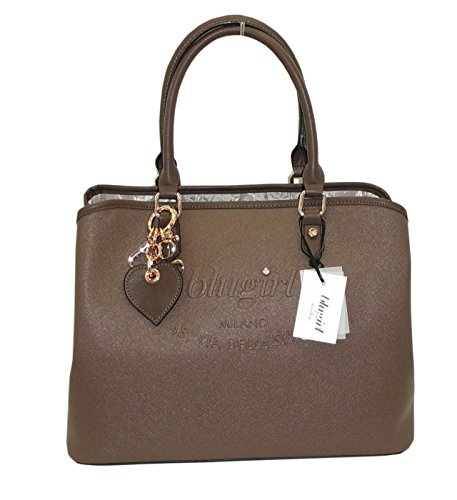 Borsa shopping BLUGIRL by blumarine BG 829005 women bag marrone saffiano pvc