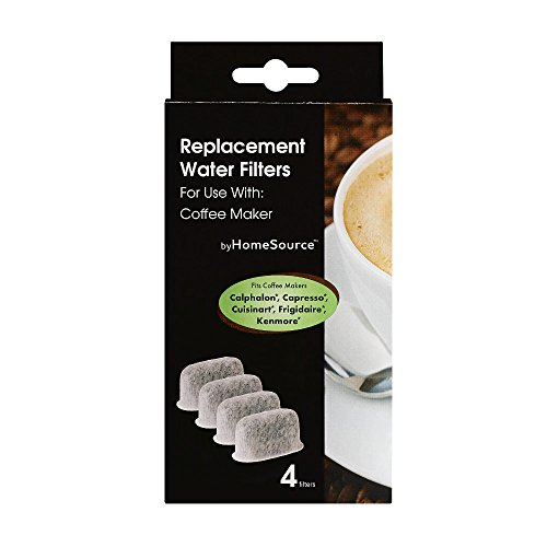 byHomeSource Coffee Water Filter with 4 Filters, Calphalon/Capresso/Cuisinart/Frigidaire/Kenmore ...