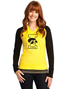 NCAA Iowa Hawkeyes Baseball Hoodie Ladies by Wishbone