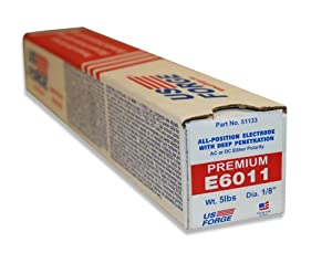 US Forge Welding Electrode E6011 1/8-Inch by 14-Inch 5-Pound Box #51133 by Us Forge