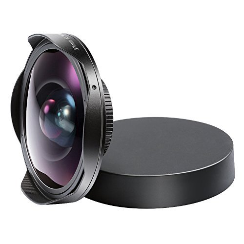 Neewer 0,3 x 37 mm Baby-Death Video Ultra Digitalkamera Fisheye-Objektiv für Videokamera schwarz