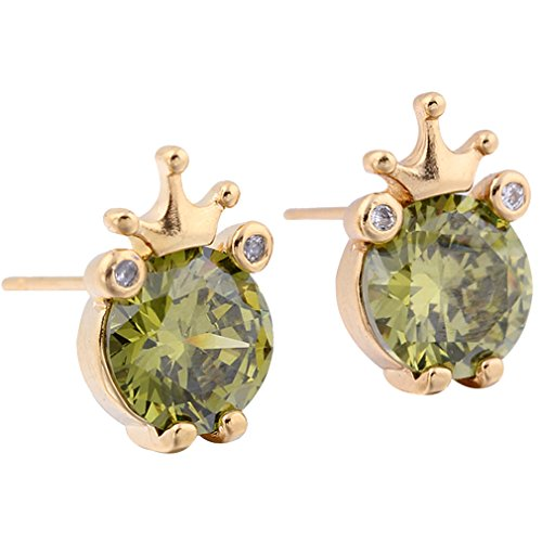 18k-gold-berzogene-yazilind-charming-runde-grn-clear-cut-zirkonia-nette-crown-kleine-mini-ohrstecker