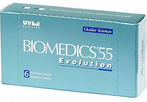 Biomedics 55 Evolution Monatslinsen weich, 6 Stück / BC 8.6 mm / DIA 14.2 / -1,25 Dioptrien