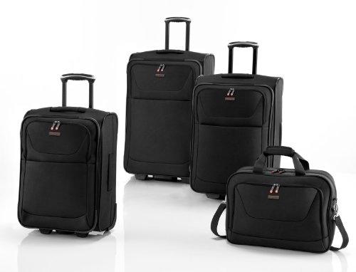 Koffer Set 3 tlg. mit Flugumhänger Korsika Schwarz