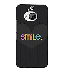 Smile in Love 3D Hard Polycarbonate Designer Back Case Cover for HTC One M9+ :: HTC One M9 Plus