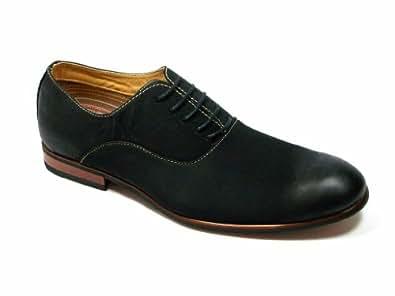 Ferro Aldo Men's 19255-Black Modern Round Toe Oxfords, Black, 13