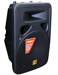 Mr. Dj PP3000MP3 15-Inch 2500-Watt Max Power Speaker with Built-In LCD/MP3/USB/SD Card Slot and Wireless Remote Control Works with All DJ Equipment