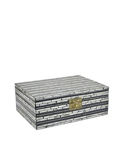 Three Hands Tile Covered Wood Box