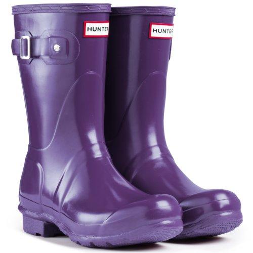 Women's Hunter Boots Original Short Gloss Snow Rain Boots Water Boots Unisex - Soverign Viola - 7