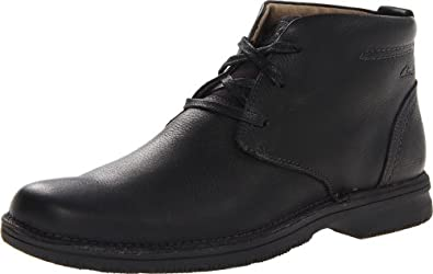 Clarks Men's Senner Ave Boot,Black Tumbled Leather,8 M US