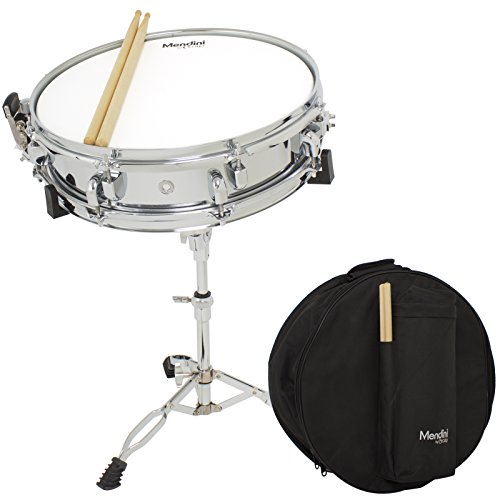 mendini-by-cecilio-student-14-inch-snare-drum-set-with-soft-case-drum-sticks-and-stand