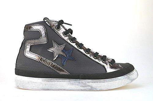 scarpe uomo 2 STAR sneakers grigio tessuto AJ793 (41 EU)