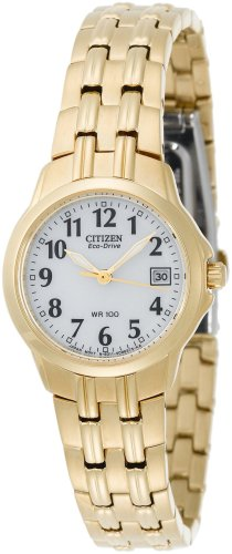 Citizen Ladies Eco-drive Gold Tone Watch EW1542-59A