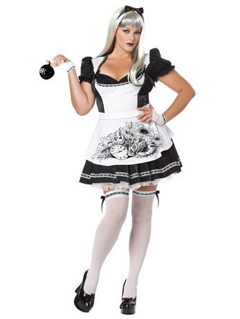 Halloween 2017 Disney Costumes Plus Size & Standard Women's Costume Characters - Women's Costume CharactersCalifornia Costumes Women's Plus-Size Dark Alice Plus, Black/White