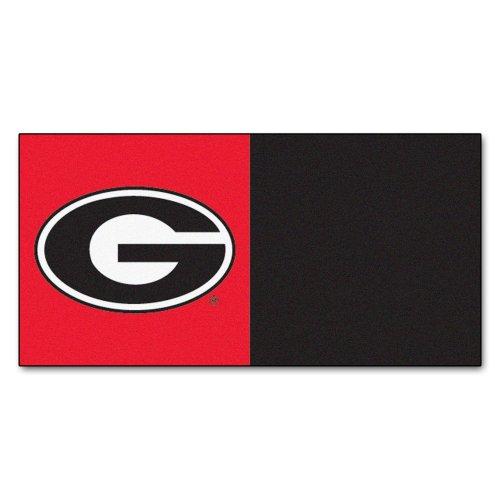 FANMATS NCAA University of Georgia Bulldogs Nylon Face Team Carpet Tiles