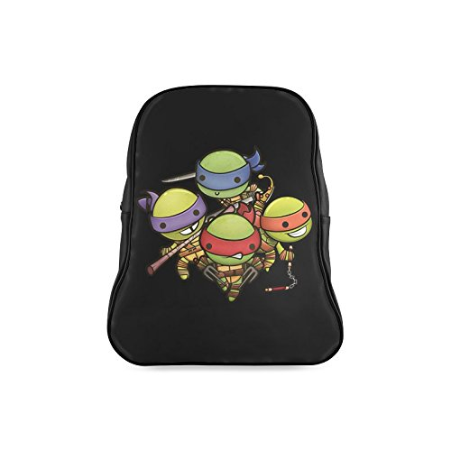 Navarro Classic Teenage Mutant Ninja Turtles TMNT Children School High-grade PU Leather Backpack Bag Shoulder (Boys Tmnt Casey Jones Classic Costume)
