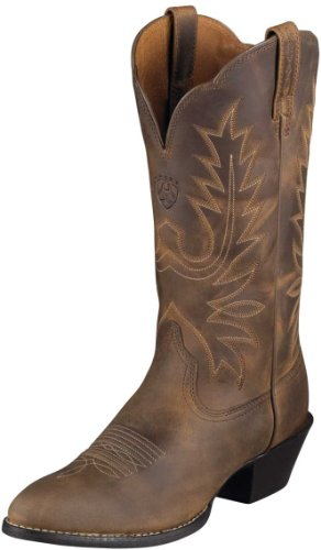 Ariat Women's Heritage Western R Toe Distressed Brown 9.5