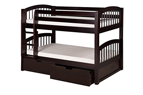 Low Loft Bed With Storage 6072 front