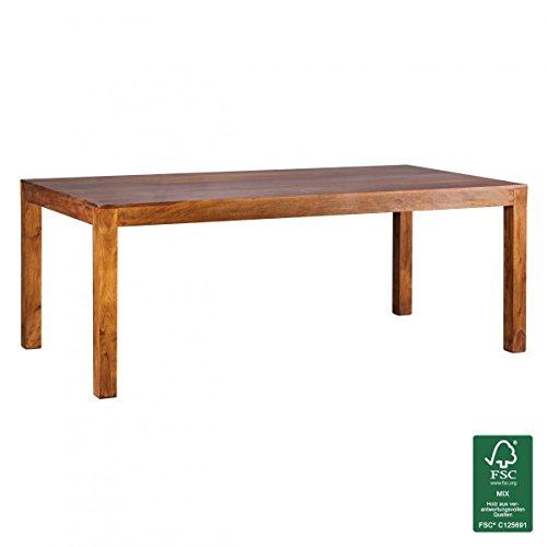 FineBuy-Esstisch-Massivholz-Sheesham-200-x-100-x-76-cm-Esszimmer-Tisch-Design-Kchentisch-modern-Landhaus-Stil-Holztisch-rechteckig-dunkel-braun-Natur-Produkt-Massivholzmbel-Echt-Holz-unbehandelt