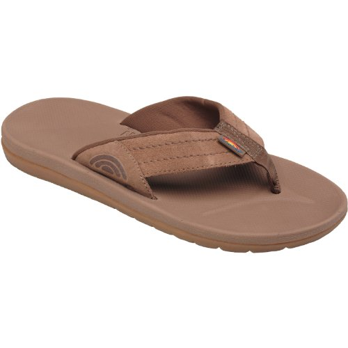 Men'S Rainbow Sandals;Mens Molded Rubber - Brown 14 front-65237