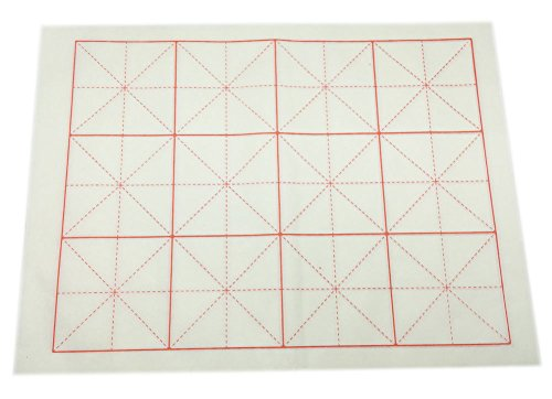 Easyou Handmade Paper with Grids for Students Beginning and Intermediate Calligraphy Practice (17.7