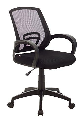 My_office ROOM Poltrona, Poliuretano, Nero, 55x58x95 cm
