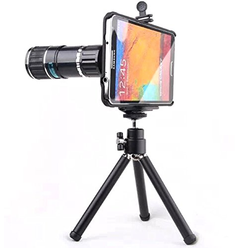 Mordern New 2015 12x Mobile Phone Long Focus Telephoto/telescope Zoom Lens/lenses for Samsung Galaxy Note 4 with Tripod Accessories