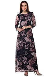 PURYS floral print gathered maxi - Large