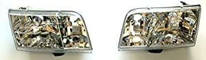 1998-2006 Ford Crown Victoria Headlight Assembly (1999 2000 2001 2002 2003 2004 2005 98 99 00 01 02 03 04 05 06) - One Pair(Both Driver and Passenger Sides) - DOT Certified Headlight