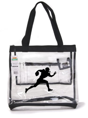 Wholesale Small Clear Tote Bag Case Of 25 Football Statium Compliant Size 12X12X6