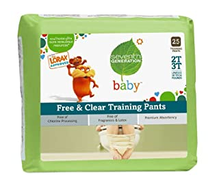 Seventh Generation Training Pants 2T-3T, 25 Count (Pack of 4)