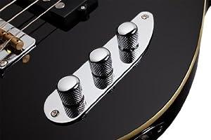 Schecter Baron-H 4-String Bass Guitar, Vintage Black by SCHAM