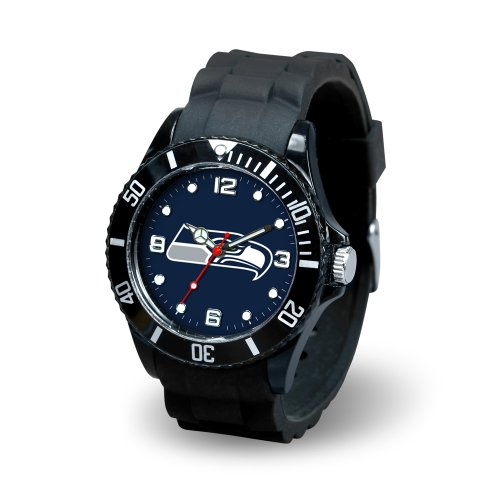 NFL Seattle Seahawks Spirit Watch, Black at Amazon.com