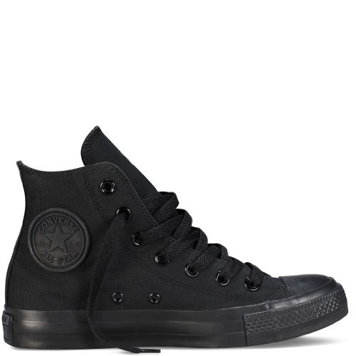 Karmaloop Converse The Chuck Taylor All Star Core Hi Sneaker Black (4 D(M) US, Black Monochrome)