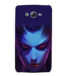 printtech Game Character Girl Beautiful Back Case Cover for Samsung Galaxy E7 / Samsung Galaxy E7 E700F