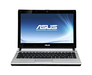 Asus U36JC-RX114V 33,8 cm (13,3 Zoll) Notebook (Intel Core i5 480M, 2,6GHz, 4GB RAM, 320GB HDD, NVIDIA G310M, Win7 HP) aluminium