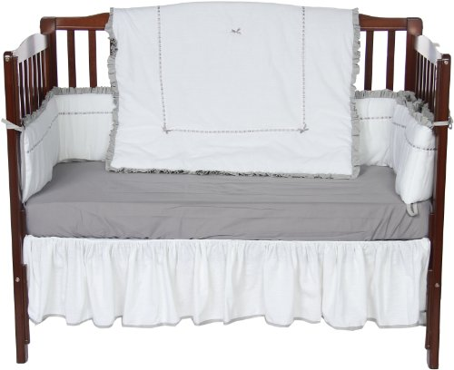 Baby Doll Unique Crib Bedding Set, Grey