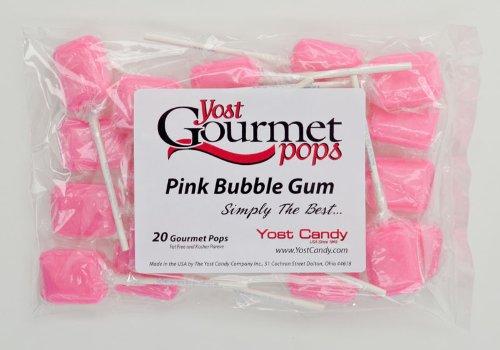 Yost Gourmet Pops, 20 Count Bag - Pink Bubble Gum