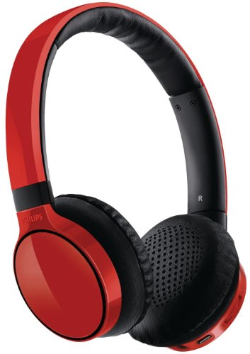 Casque Philips SHB9100 rouge avec ou sans fil - Bluetooth - Nomade