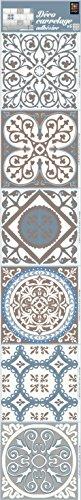 Plage-260540-Autocollants-souples-imitation-azulejos-6-feuilles-Vinyle-Beige-15-x-01-x-15-cm