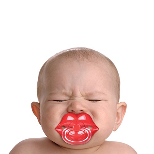 Big Red Lips Pacifier Chill, Baby Fred & Friends Infant Silicone Dummy Binky