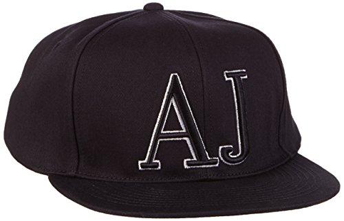 Armani Jeans Cappello da Baseball con logo Unica Taglia Blu