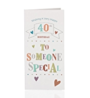 Someone Special Letters 40 Birthday Card
