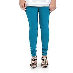 Vami Cotton Churidar Leggings in Turquoise Color _VM1001(25)