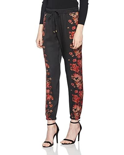 Guess Pantalone Flower Shaded [Nero/Rosso]