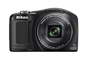 Nikon COOLPIX L620 18.1 MP CMOS Digital Camera with 14x Zoom Lens and Full 1080p HD Video (Black)