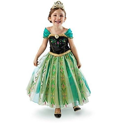 うちの 子 気分は ! アナと雪の女王 FROZEN アナ 子ども 用 女王 Anna プリンセス ドレス コスプレ 衣装  ハロウィン  アイペシル 付 (100 cm)