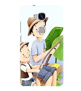 Printvisa Premium Back Cover Father Son Fishing Design For Huawei Honor 5X:: Huawei Honor X5::Huawei GR5